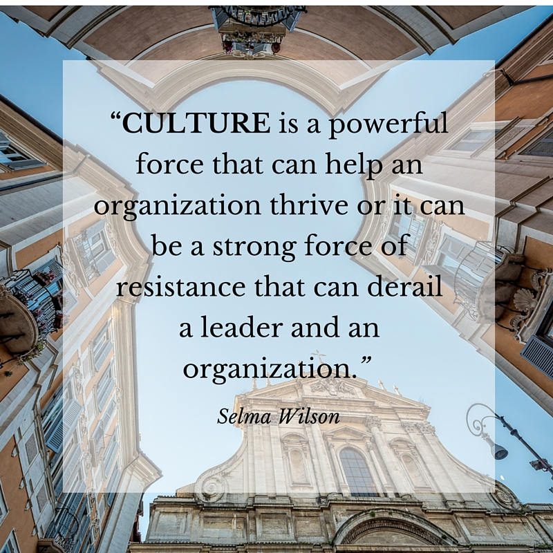Culture and Leadership Change